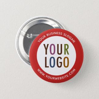Botón de encargo de Pinback con el logotipo de la