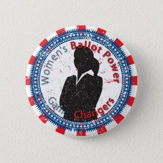 Botón de encendido de la votación de las mujeres
