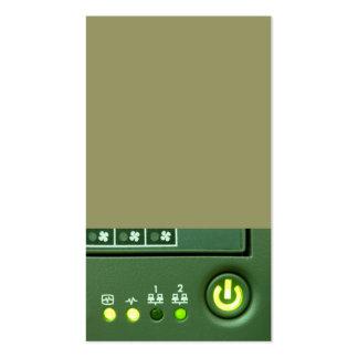 botón de encendido y luces indicadoras tarjetas de visita