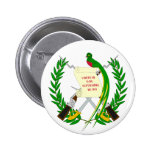 Botón de escudo de armas de Guatemala Pin