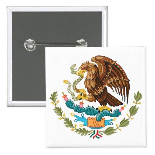 Botón de escudo de armas de México Pin