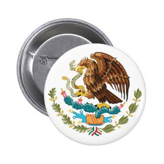 Botón de escudo de armas de México Pins