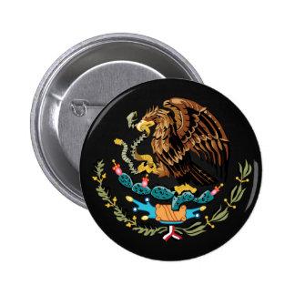 Botón de escudo de armas mexicano