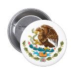 Botón de escudo de armas mexicano pins