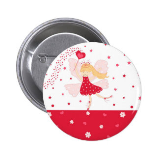 Botón de hadas rojo de la bailarina pins