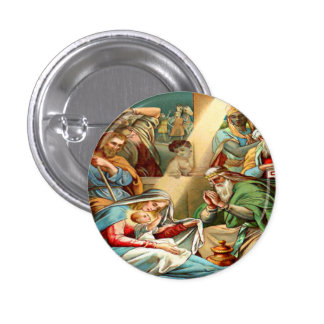 botón de Jesús del bebé Chapa Redonda 2,5 Cm