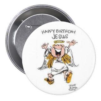 botón de Jesús del feliz cumpleaños