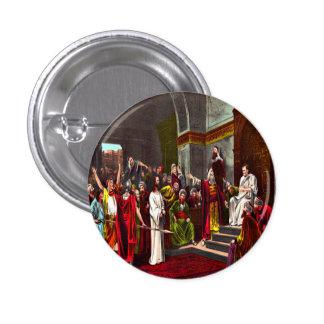 Botón de Jesús y de Pilate Chapa Redonda 2,5 Cm