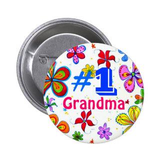 Botón de la abuela del número uno