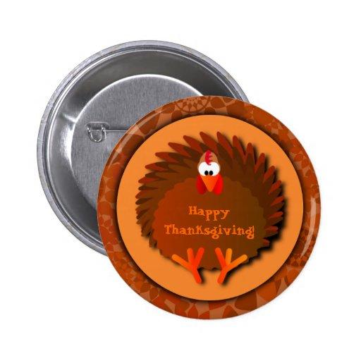 Botón de la acción de gracias de Henny Pin