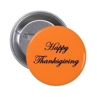 """Botón de la """"acción de gracias feliz"""" pin"""
