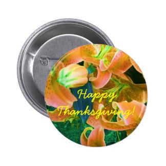 """Botón de la """"acción de gracias feliz"""" pins"""