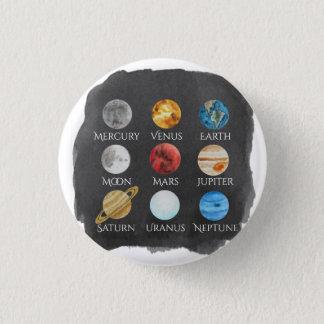 Botón de la acuarela de la Sistema Solar