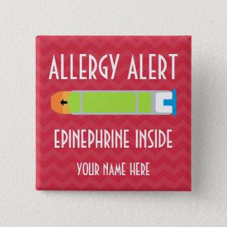 Botón de la alarma de la alergia de la epinefrina