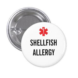 Botón de la alarma de la alergia de los crustáceos