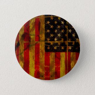 Botón de la bandera americana del Grunge de los