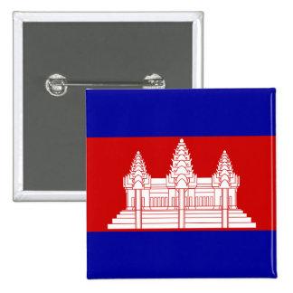Botón de la bandera de Camboya