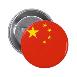 Botón de la bandera de China