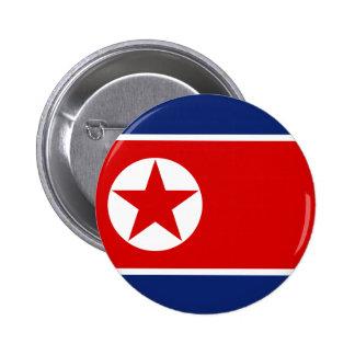 Botón de la bandera de Corea del Norte