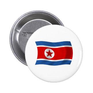 Botón de la bandera de Corea del Norte Pin