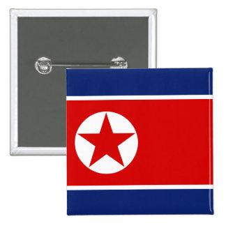 Botón de la bandera de Corea del Norte Pins