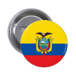 Botón de la bandera de Ecuador Pins
