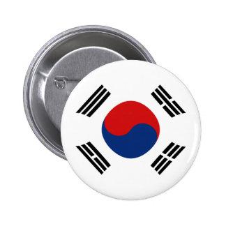 Botón de la bandera de Fisheye de la Corea del Sur