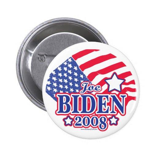 Botón de la bandera de Joe Biden 2008 Pins