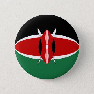 Botón de la bandera de Kenia Fisheye