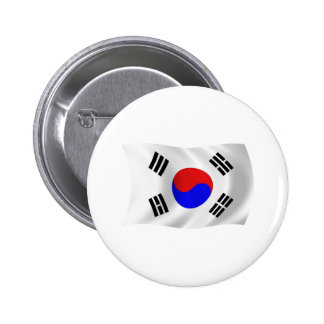 Botón de la bandera de la Corea del Sur Pin