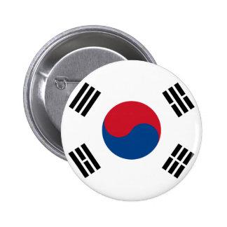 Botón de la bandera de la Corea del Sur Pins