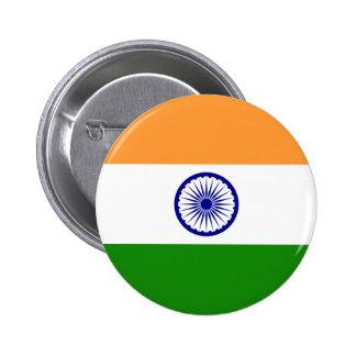Botón de la bandera de la India
