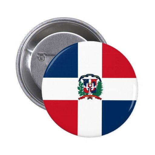 Botón de la bandera de la República Dominicana Pin