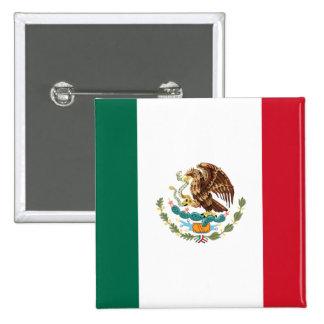 Botón de la bandera de México Pins
