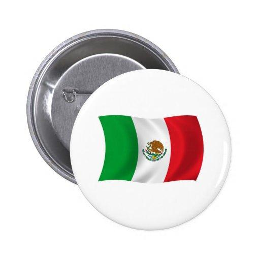 Botón de la bandera de México Pin