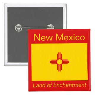 Botón de la bandera de New México Pins