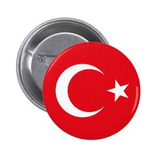 Botón de la bandera de Turquía