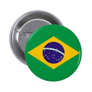 Botón de la bandera del Brasil