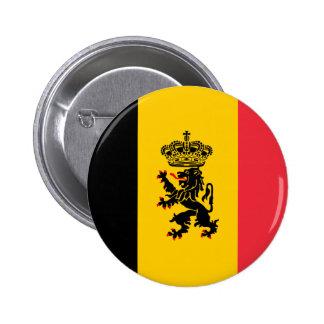Botón de la bandera del estado de Bélgica