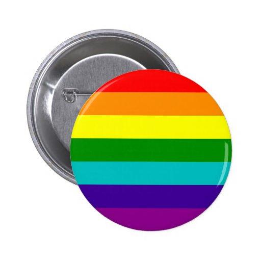 Botón de la bandera del orgullo gay del arco iris  pin