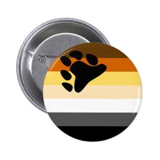 Botón de la bandera del oso pin