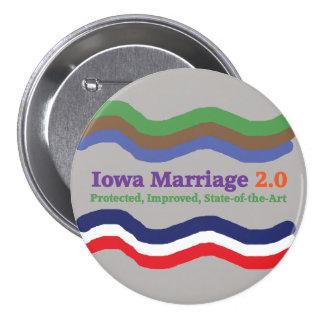 Botón de la boda 2,0 de Iowa