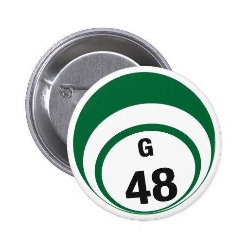 Botón de la bola del bingo G48 Pin