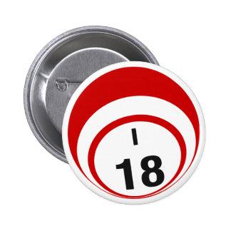 Botón de la bola del bingo I18