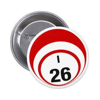 Botón de la bola del bingo I26