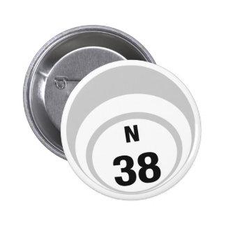 Botón de la bola del bingo N38 Pins