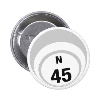 Botón de la bola del bingo N45 Pins