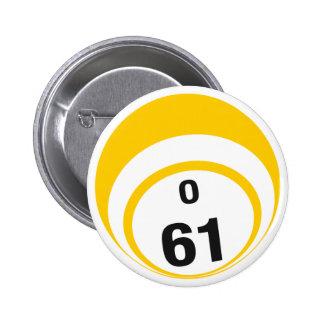 Botón de la bola del bingo O61