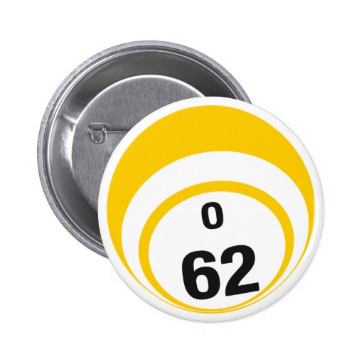 Botón de la bola del bingo O62 Pins
