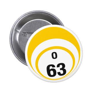 Botón de la bola del bingo O63